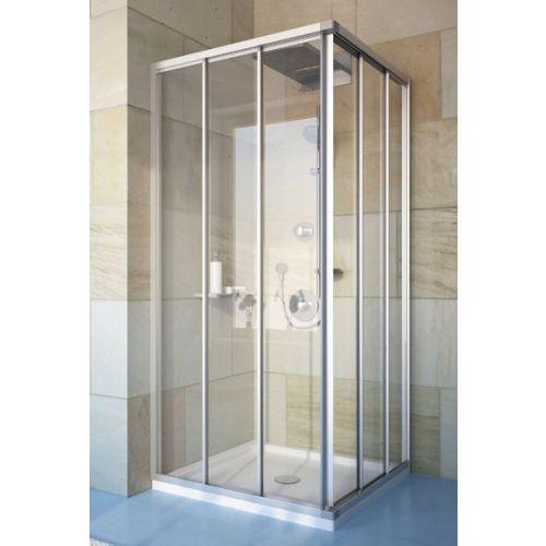 Душевой уголок GuteWetter Practic Square GK-433 100x100 см стекло бесцветное, профиль матовый хром