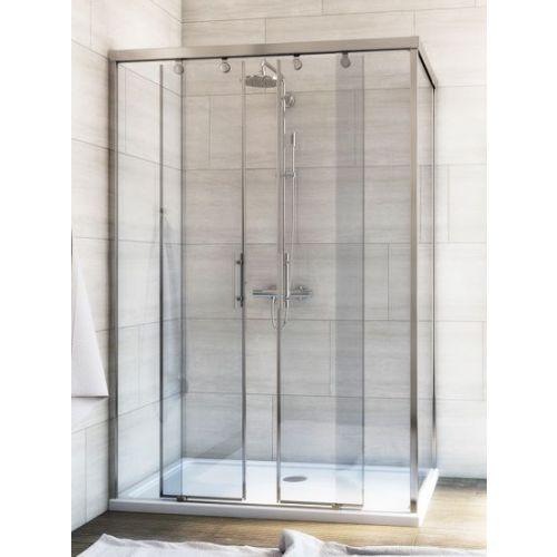 Душевой уголок GuteWetter Slide Rectan GK-865 левая 120x80 см стекло бесцветное, профиль хром