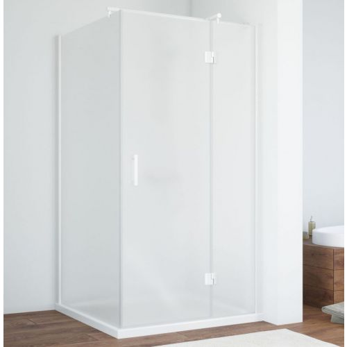 Душевой уголок Vegas Glass AFP-Fis 100 01 10 R профиль белый, стекло сатин