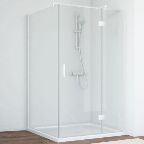 Душевой уголок Vegas Glass AFP-Fis 120*100 01 01 R профиль белый, стекло прозрачное