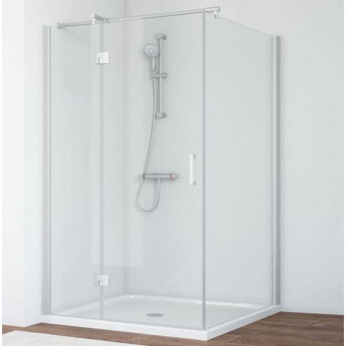 Душевой уголок Vegas Glass AFP-Fis 120*100 07 01 L профиль матовый хром, стекло прозрачное