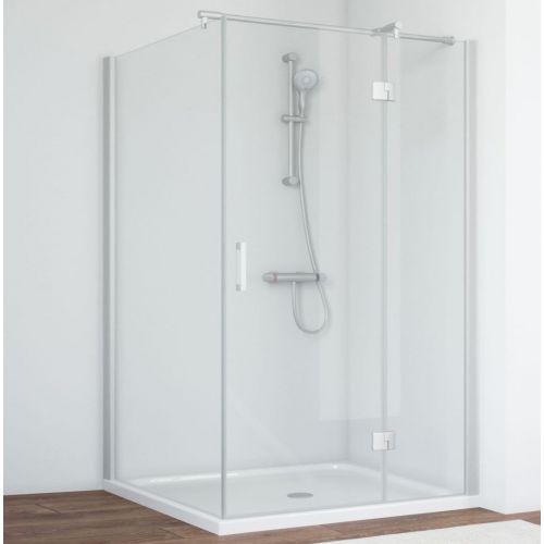 Душевой уголок Vegas Glass AFP-Fis 120*100 07 01 R профиль матовый хром, стекло прозрачное