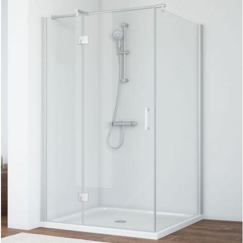 Душевой уголок Vegas Glass AFP-Fis 120*90 07 01 L профиль матовый хром, стекло прозрачное