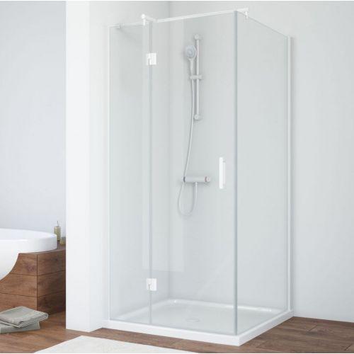 Душевой уголок Vegas Glass AFP-Fis 80 01 01 L профиль белый, стекло прозрачное