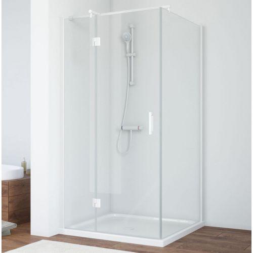 Душевой уголок Vegas Glass AFP-Fis 90 01 01 L профиль белый, стекло прозрачное