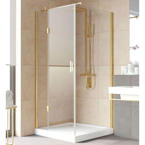 Душевой уголок Vegas Glass AFP-Fis Lux 0100 09 01 L профиль золото, стекло прозрачное