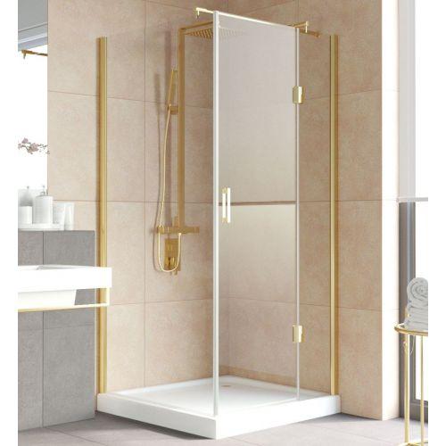 Душевой уголок Vegas Glass AFP-Fis Lux 0100 09 01 R профиль золото, стекло прозрачное