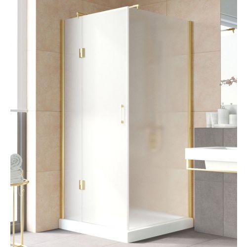 Душевой уголок Vegas Glass AFP-Fis Lux 0100 09 10 L профиль золото, стекло сатин