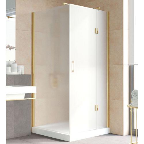 Душевой уголок Vegas Glass AFP-Fis Lux 0100 09 10 R профиль золото, стекло сатин