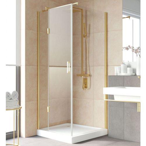 Душевой уголок Vegas Glass AFP-Fis Lux 90 09 01 L профиль золото, стекло прозрачное
