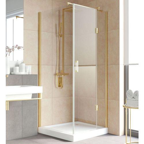 Душевой уголок Vegas Glass AFP-Fis Lux 90 09 01 R профиль золото, стекло прозрачное