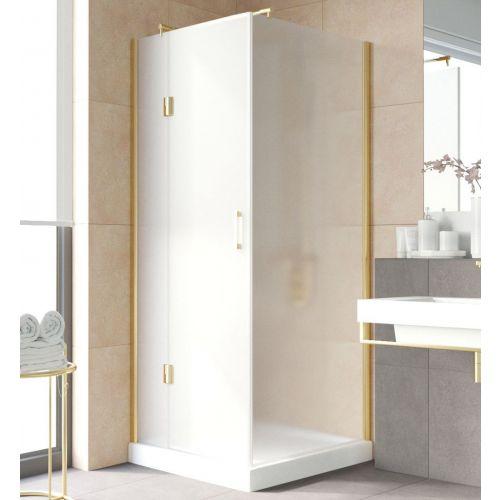 Душевой уголок Vegas Glass AFP-Fis Lux 90 09 10 L профиль золото, стекло сатин