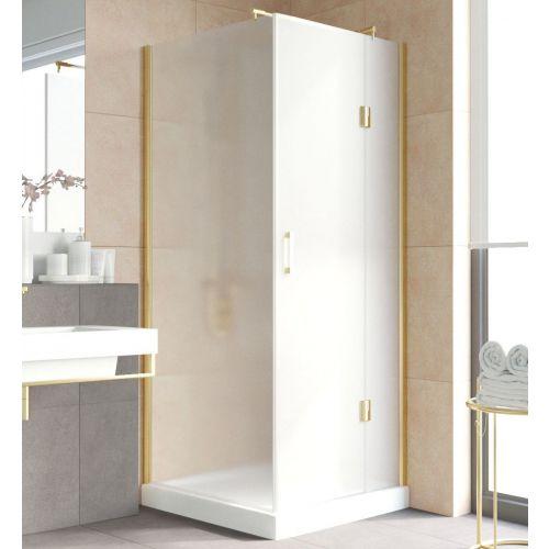 Душевой уголок Vegas Glass AFP-Fis Lux 90 09 10 R профиль золото, стекло сатин