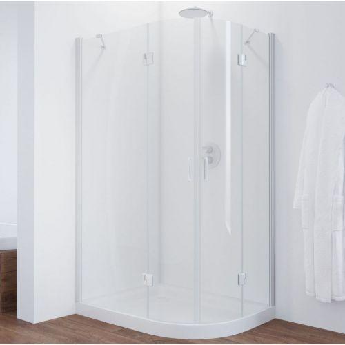 Душевой уголок Vegas Glass AFS-F 110*90 01 01 L профиль белый, стекло прозрачное