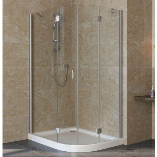 Душевой уголок Vegas Glass AFS-F Lux 110*100 07 01 L профиль матовый хром, стекло прозрачное