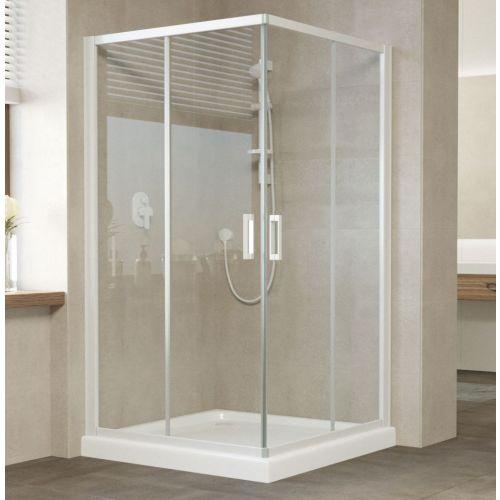 Душевой уголок Vegas Glass ZA 0120 01 01 профиль белый, стекло прозрачное