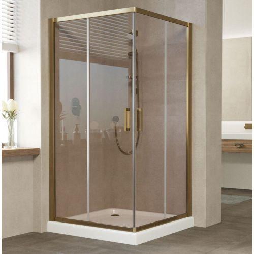 Душевой уголок Vegas Glass ZA 100 05 05 профиль бронза, стекло бронза