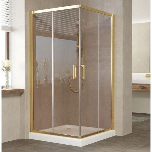 Душевой уголок Vegas Glass ZA 100 09 05 профиль золото, стекло бронза
