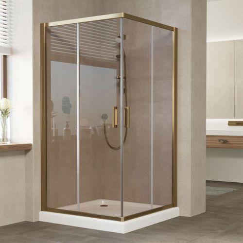 Душевой уголок Vegas Glass ZA 110 05 05 профиль бронза, стекло бронза