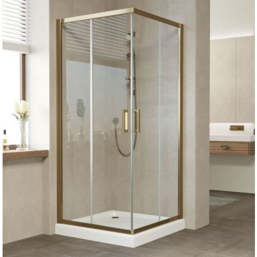 Душевой уголок Vegas Glass ZA 80 05 01 профиль бронза, стекло прозрачное