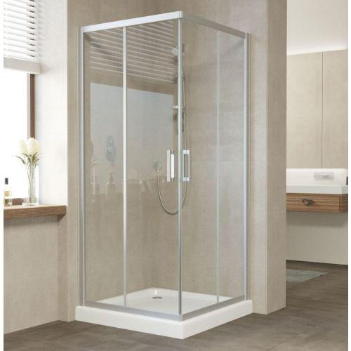 Душевой уголок Vegas Glass ZA 80 07 01 профиль матовый хром, стекло прозрачное