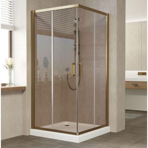 Душевой уголок Vegas Glass ZA 90 05 05 профиль бронза, стекло бронза