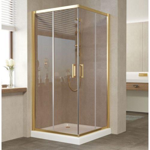 Душевой уголок Vegas Glass ZA 90 09 05 профиль золото, стекло бронза