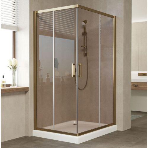 Душевой уголок Vegas Glass ZA-F 100*80 05 05 профиль бронза, стекло бронза