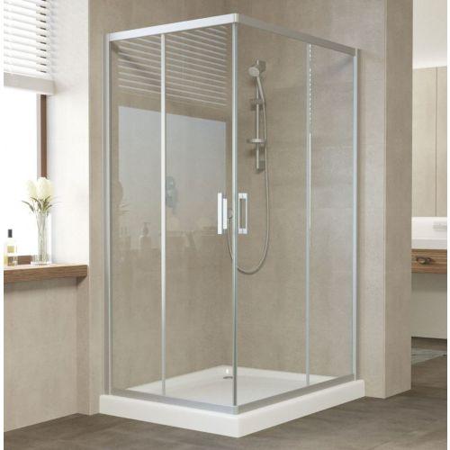 Душевой уголок Vegas Glass ZA-F 110*80 07 01 профиль матовый хром, стекло прозрачное