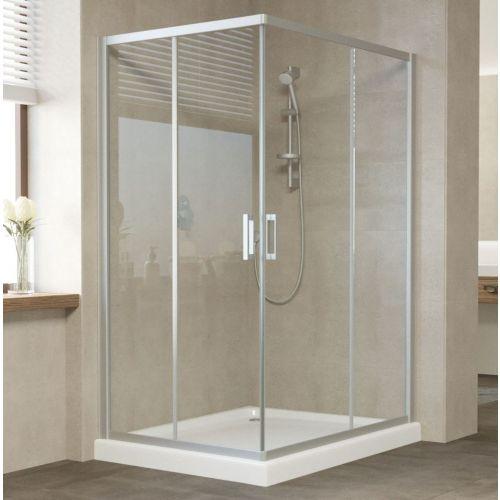 Душевой уголок Vegas Glass ZA-F 120*100 07 01 профиль матовый хром, стекло прозрачное
