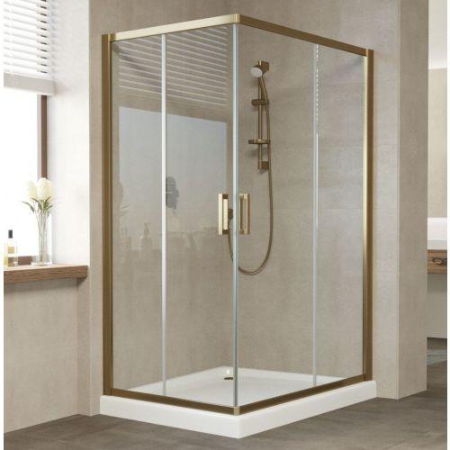 Душевой уголок Vegas Glass ZA-F 120*80 05 01 профиль бронза, стекло прозрачное
