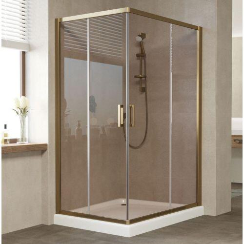 Душевой уголок Vegas Glass ZA-F 120*90 05 05 профиль бронза, стекло бронза