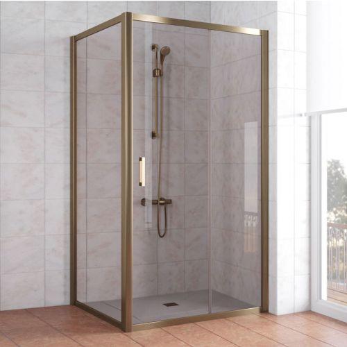 Душевой уголок Vegas Glass ZP+ZPV 100*100 05 05 профиль бронза, стекло бронза