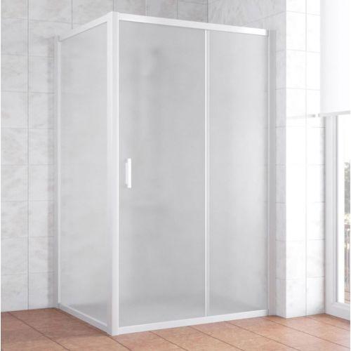 Душевой уголок Vegas Glass ZP+ZPV 110*100 01 10 профиль белый, стекло сатин