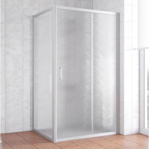 Душевой уголок Vegas Glass ZP+ZPV 110*90 07 02 профиль матовый хром, стекло шиншилла