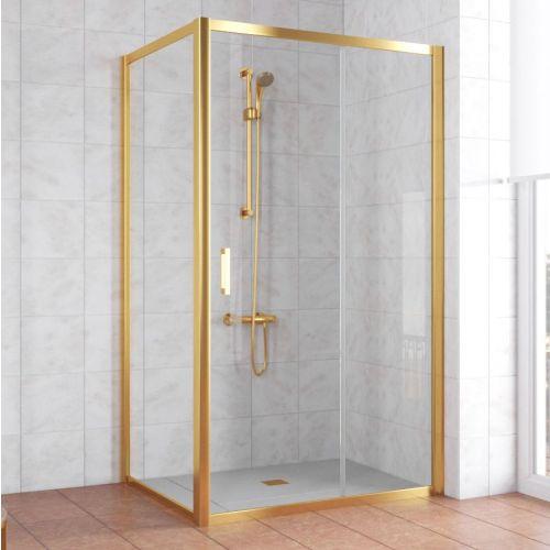 Душевой уголок Vegas Glass ZP+ZPV 110*90 09 01 профиль золото, стекло прозрачное
