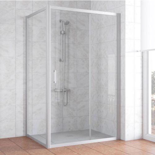 Душевой уголок Vegas Glass ZP+ZPV 120*70 07 01 профиль матовый хром, стекло прозрачное