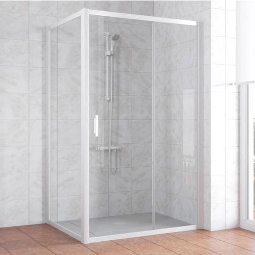 Душевой уголок Vegas Glass ZP+ZPV 120*90 01 01 профиль белый, стекло прозрачное