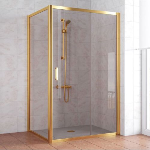 Душевой уголок Vegas Glass ZP+ZPV 120*90 09 05 профиль золото, стекло бронза