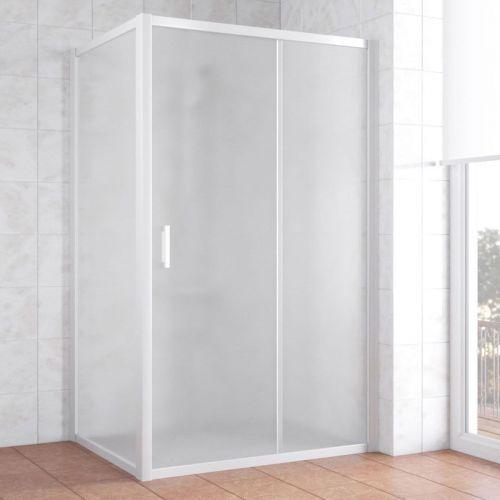 Душевой уголок Vegas Glass ZP+ZPV 130*80 01 10 профиль белый, стекло сатин