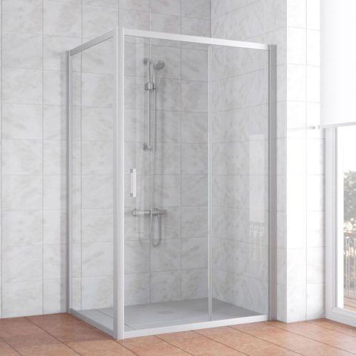 Душевой уголок Vegas Glass ZP+ZPV 130*90 07 01 профиль матовый хром, стекло прозрачное