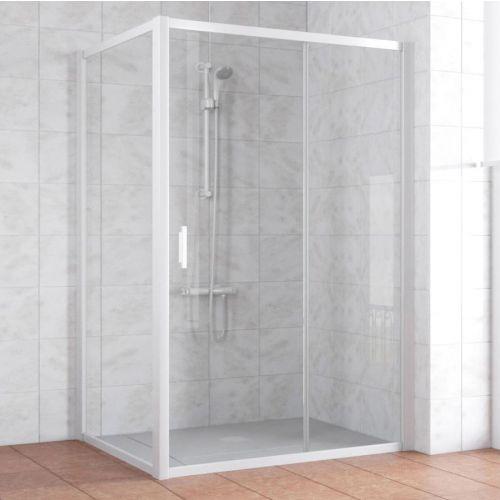 Душевой уголок Vegas Glass ZP+ZPV 140*100 01 01 профиль белый, стекло прозрачное