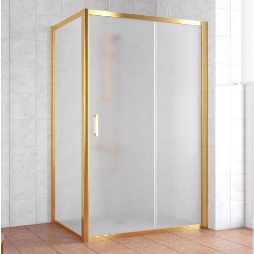 Душевой уголок Vegas Glass ZP+ZPV 140*70 09 10 профиль золото, стекло сатин