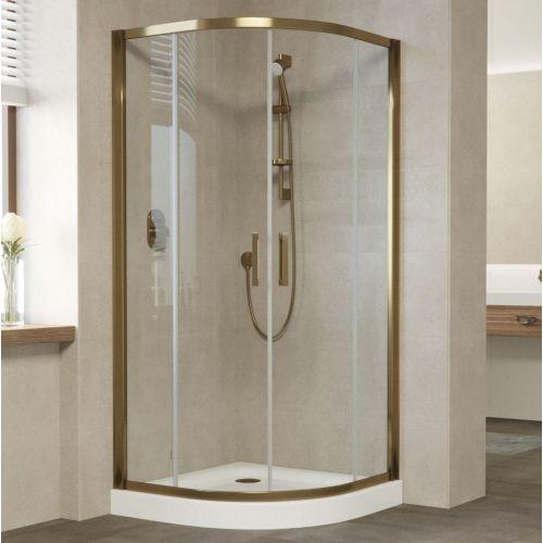 Душевой уголок Vegas Glass ZS 100 05 01 профиль бронза, стекло прозрачное