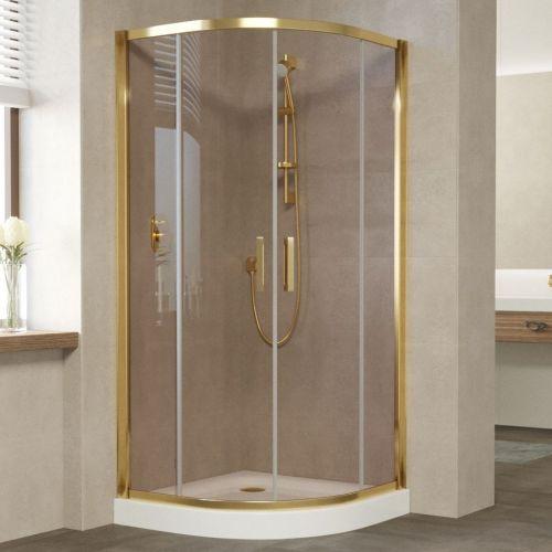 Душевой уголок Vegas Glass ZS 100 09 05 профиль золото, стекло бронза