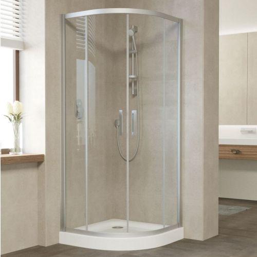 Душевой уголок Vegas Glass ZS 80 07 01 профиль матовый хром, стекло прозрачное