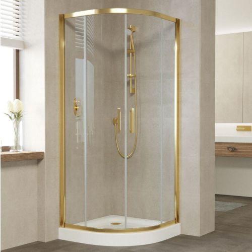 Душевой уголок Vegas Glass ZS 80 09 01 профиль золото, стекло прозрачное