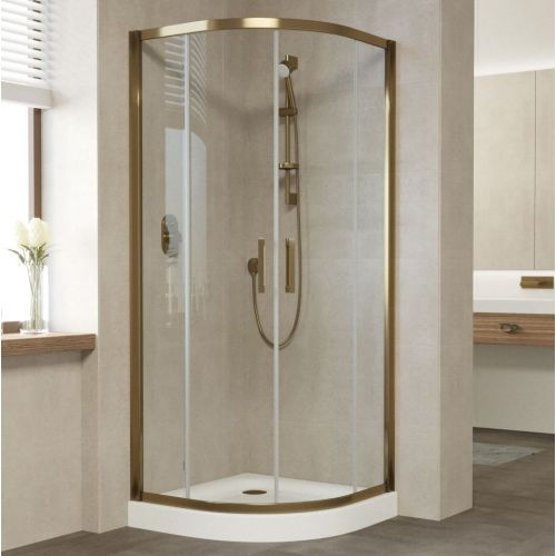 Душевой уголок Vegas Glass ZS 90 05 01 профиль бронза, стекло прозрачное