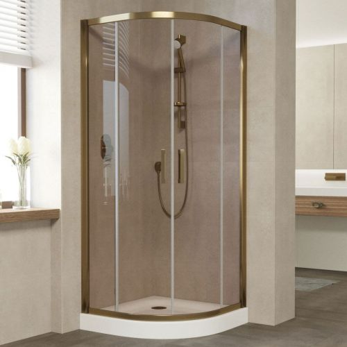 Душевой уголок Vegas Glass ZS 90 05 05 профиль бронза, стекло бронза