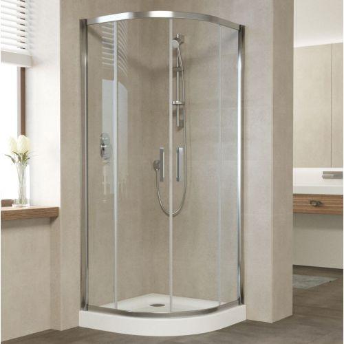 Душевой уголок Vegas Glass ZS 90 08 01 профиль глянцевый хром, стекло прозрачное